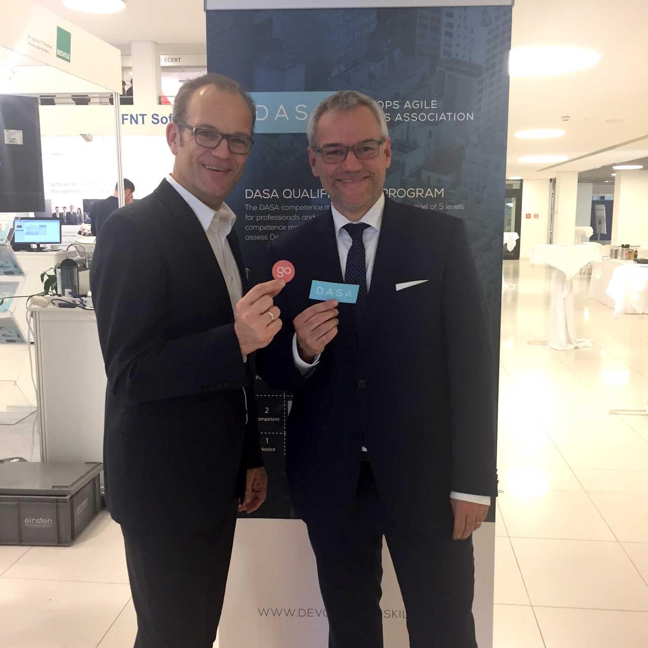 New DASA Ambassadors in Germany -- Markus Bause and Dierk Söllner.