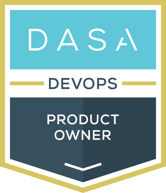 DASA DevOps product Owner certified